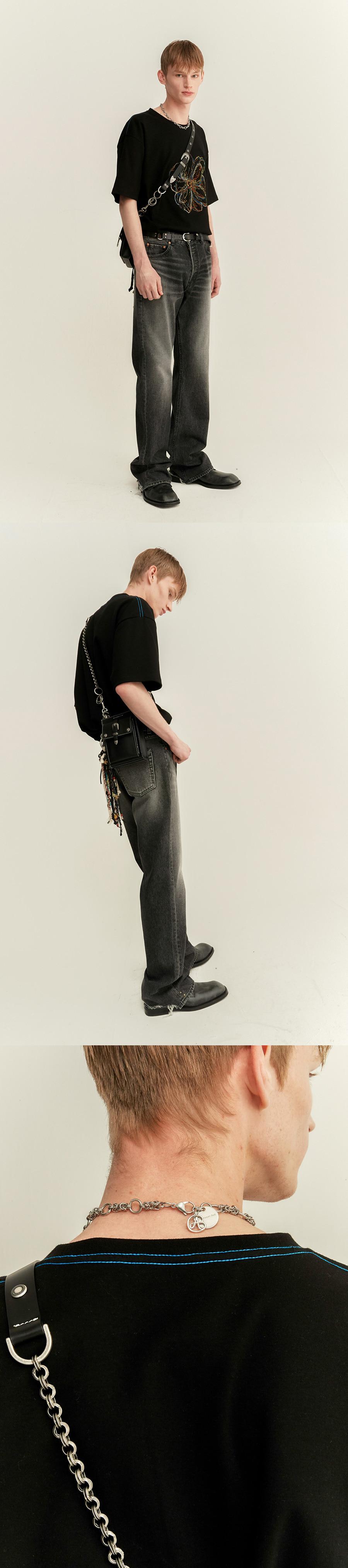 앤더슨벨(ANDERSSON BELL) 유니섹스 썸머 플레르 엠보더리 티셔츠 atb506u(WHITE)
