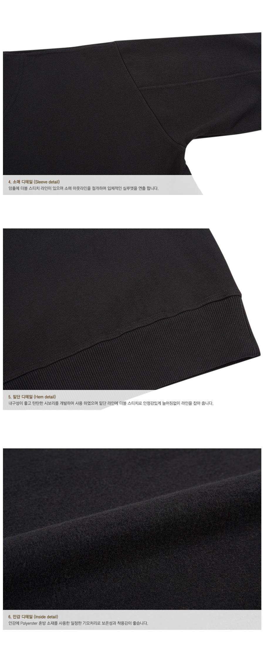앤더슨벨 유니섹스 시그니쳐 엠블럼 헤비 스웨트셔츠 블랙 (18FW) atb231u