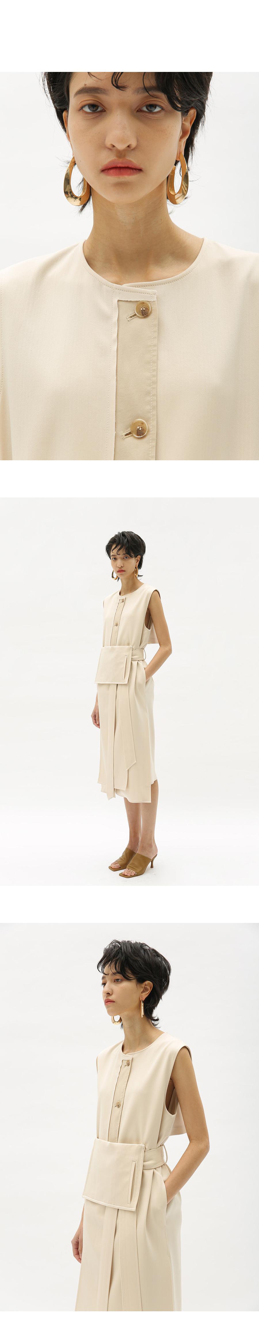앤더슨벨 포 우먼(ANDERSSON BELL for WOMEN) 지아나 스리브리스 랩 미디 드레스 atb353w(BLACK)