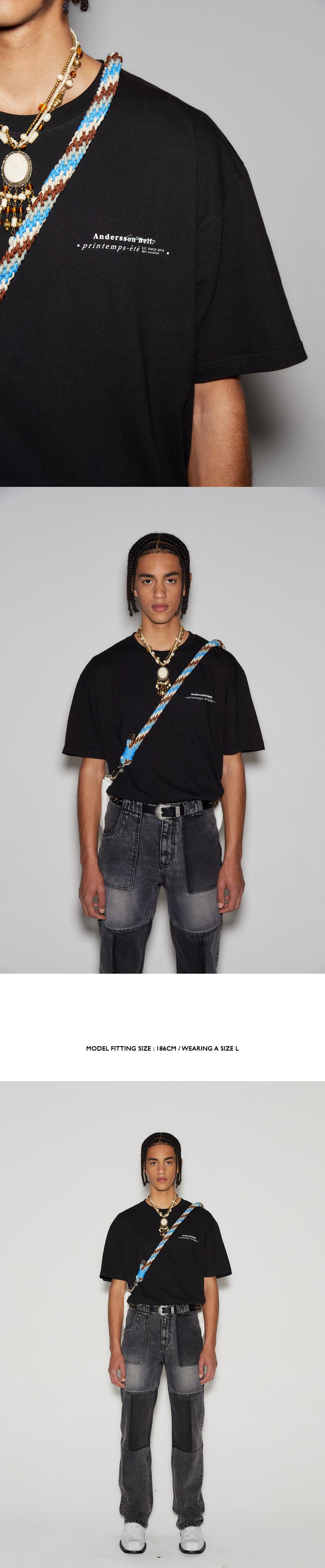 앤더슨벨(ANDERSSON BELL) 유니섹스 팡통 에테  에센셜 티셔츠 atb661u(BLACK)